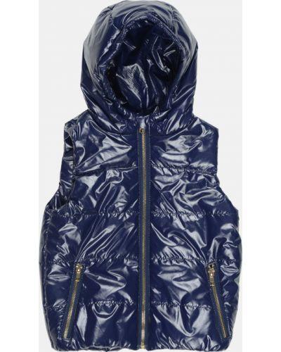 Синяя теплая жилетка Одягайко
