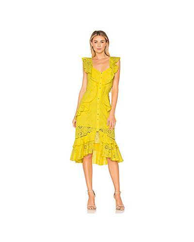 Платье миди на пуговицах с оборками Alice Mccall