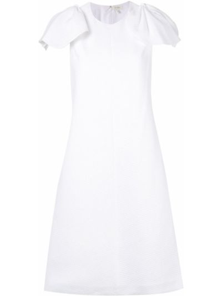 Biała sukienka z wiskozy z diamentem Delpozo