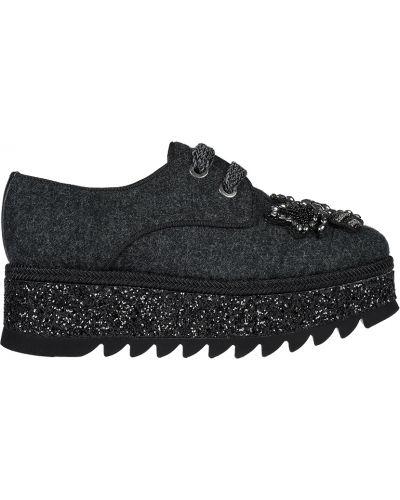 Кожаные туфли - серые Pertini