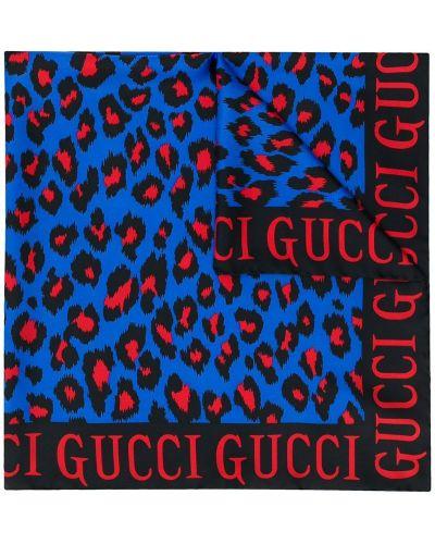 Платок леопардовый из шелка Gucci