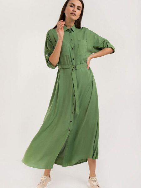 Расклешенное платье - зеленое Finn Flare