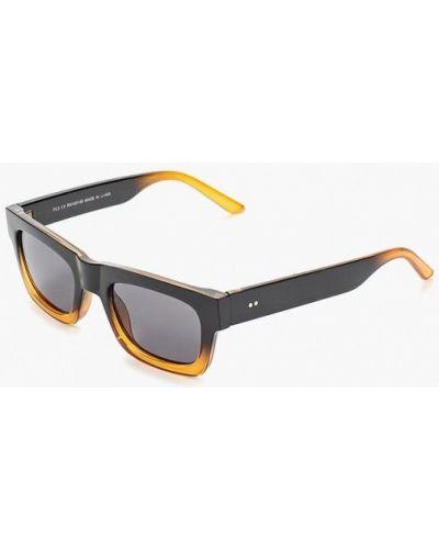 Солнцезащитные очки квадратные черные Topman