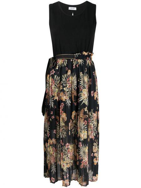 Плиссированная юбка с цветочным принтом с завышенной талией Liu Jo