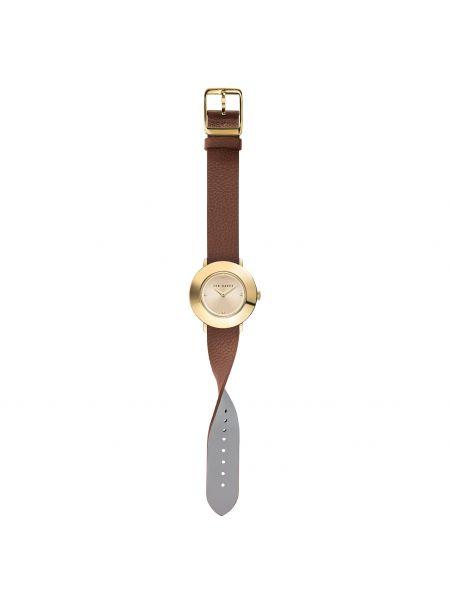 Brązowy złoty zegarek Ted Baker