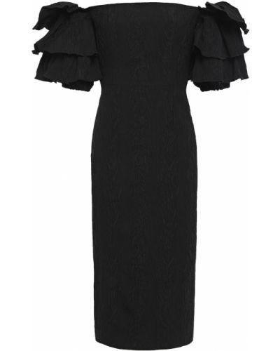 Ażurowa czarna sukienka bawełniana Alexachung