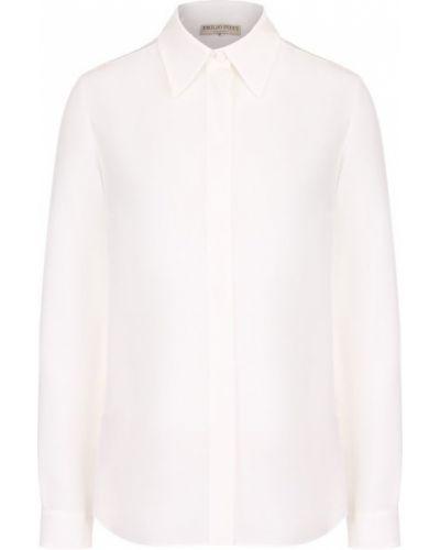 Блузка с длинным рукавом приталенная шелковая Emilio Pucci
