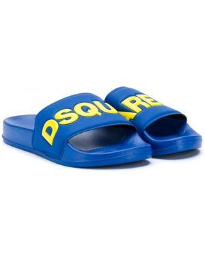 Шлепанцы для обуви синий Dsquared2 Kids