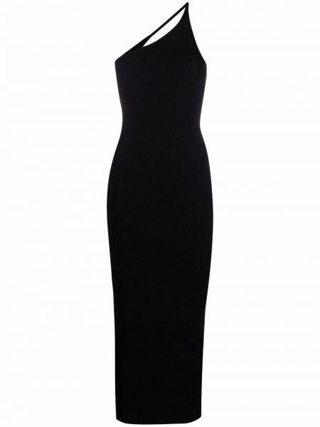 Прямое черное платье миди из вискозы Ssheena