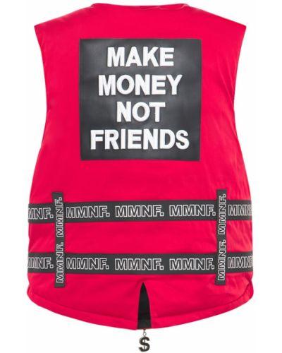Kamizelka bez rękawów z paskiem klamry Make Money Not Friends