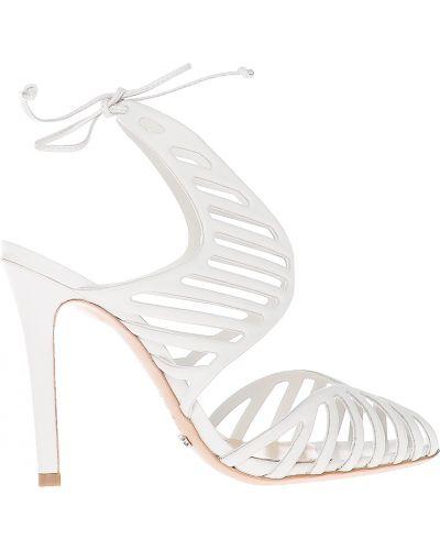 Белые босоножки на каблуке Schutz