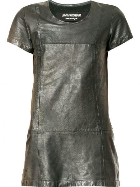 Кожаный топ винтажный с круглым вырезом круглый Junya Watanabe Comme Des Garçons Pre-owned