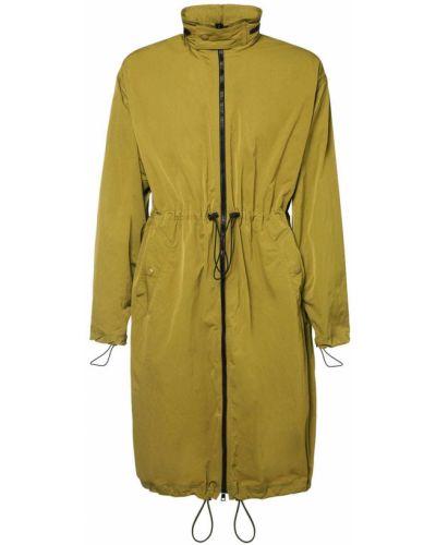 Płaszcz z kapturem z nylonu z siateczką Bottega Veneta