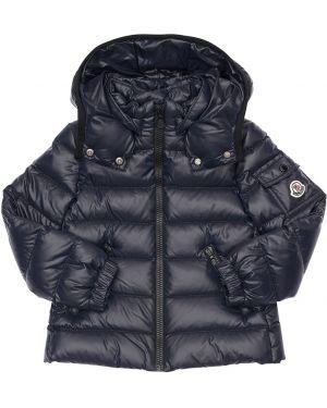 Пуховая куртка с капюшоном на кнопках с манжетами Moncler