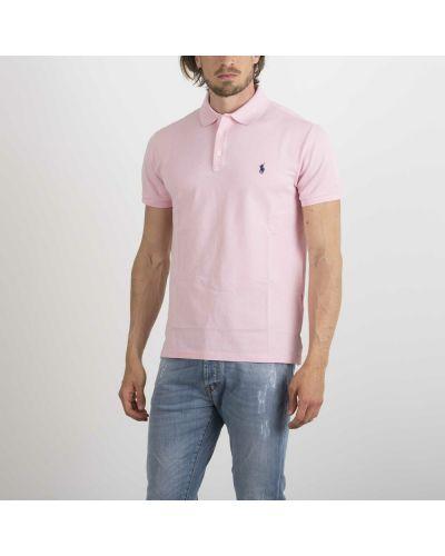 Różowa koszulka Ralph Lauren