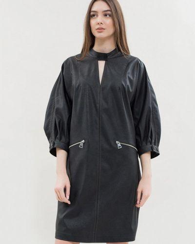 Кожаное платье - черное Maxa