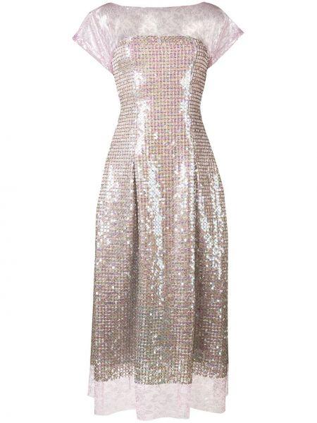 Платье мини с открытой спиной миди Talbot Runhof