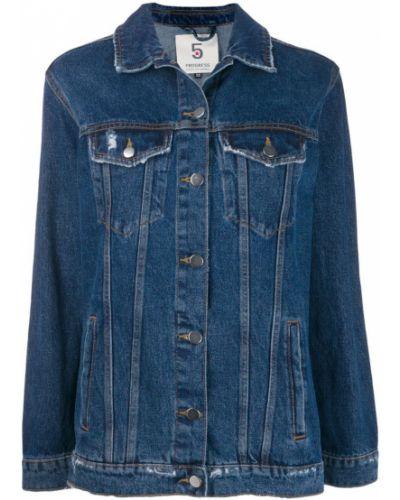 Синяя джинсовая куртка на пуговицах 5 Progress