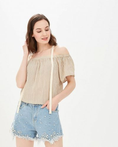 Блузка с открытыми плечами бежевый Care Of You