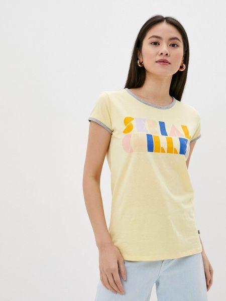 Желтая футбольная футболка Rock Angel