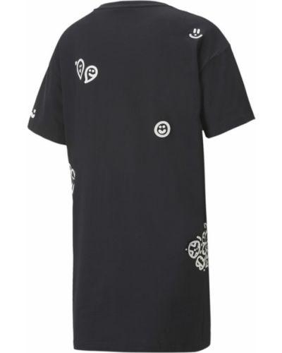 Брендовое черное платье с вырезом Puma