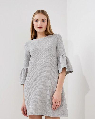 Серое платье с длинными рукавами French Connection