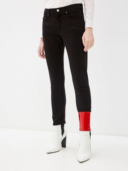 Черные джинсы-скинни с пайетками N°21