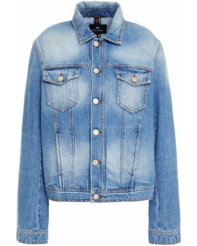 Ватная синяя джинсовая куртка с карманами Ps Paul Smith