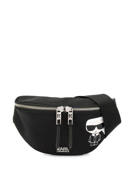 Поясная сумка с пряжкой черная Karl Lagerfeld