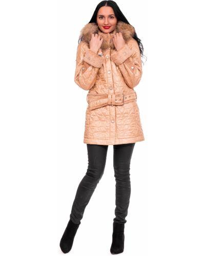 Пальто с капюшоном на синтепоне с воротником-стойкой Lacywear