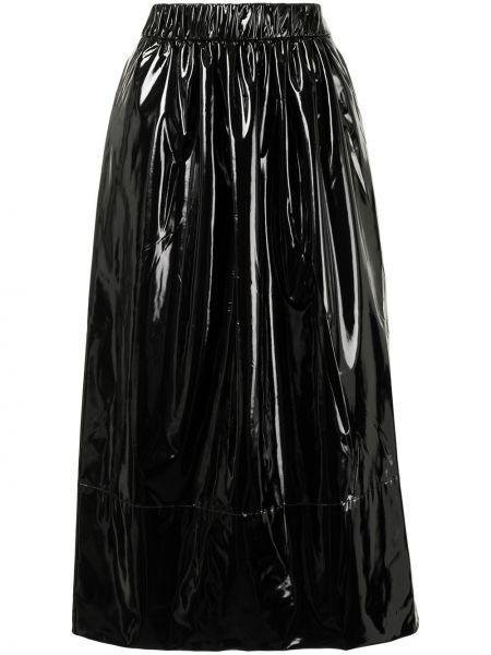 Prosto z wysokim stanem czarny spódnica ołówkowa Tibi