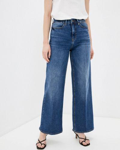 Расклешенные синие широкие джинсы Ichi
