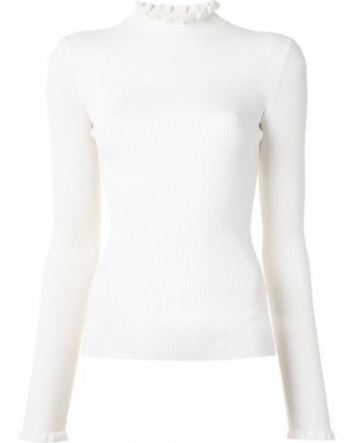 С рукавами прямой белый джемпер из вискозы Veronica Beard