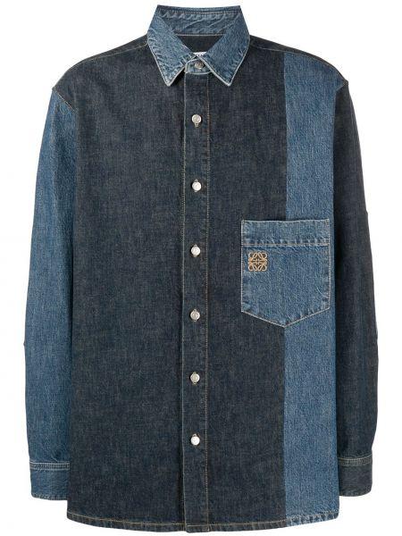 Koszula z długim rękawem klasyczna dżinsowa Loewe