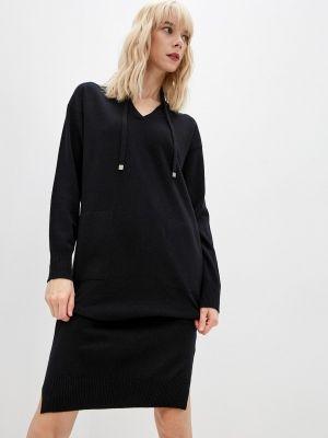 Вязаное платье - черное Cappellini