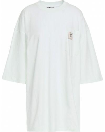 Зеленая трикотажная футболка с карманами Mcq Alexander Mcqueen