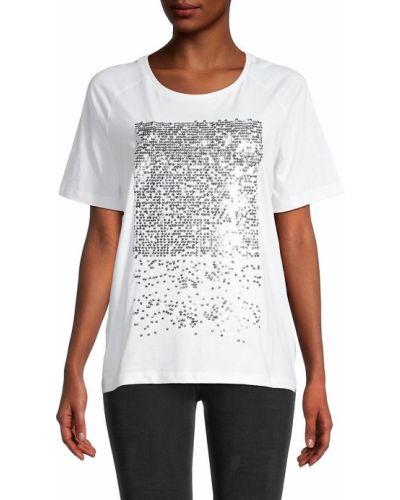 Хлопковая белая футболка с короткими рукавами Eleven Paris