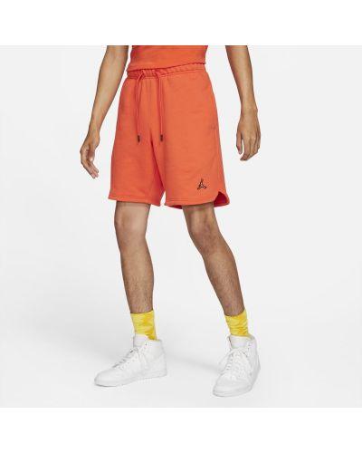 Pomarańczowe szorty dzianinowe Jordan