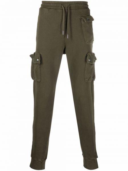 Zielone spodnie bawełniane Diesel