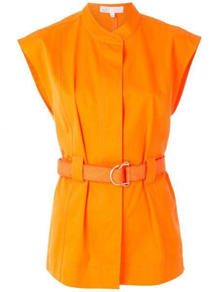 Оранжевый пиджак без рукавов с поясом Nk