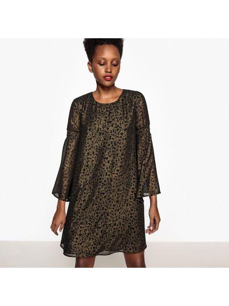 Платье миди мини с длинными рукавами La Redoute Collections