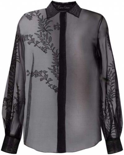 Шелковая блузка с воротником с вышивкой Carine Gilson