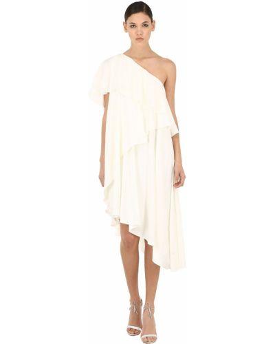 Платье с декольте - белое Lanvin