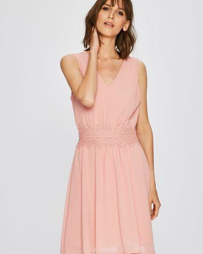 Платье мини с V-образным вырезом с вырезом Vila