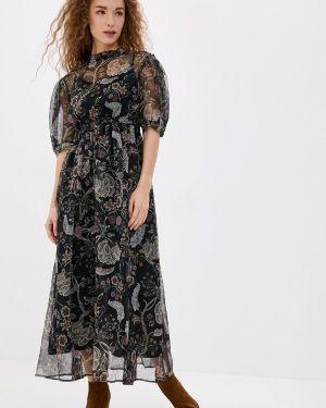 Вечернее платье осеннее зеленый Vera Moni