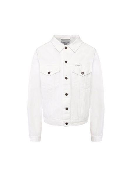 Хлопковая джинсовая куртка - белая Forte Dei Marmi Couture