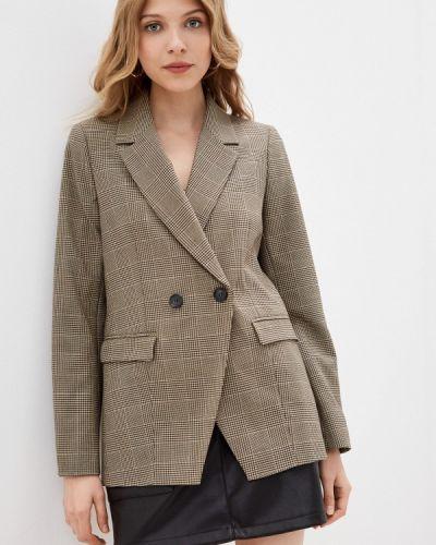 Коричневый пиджак Naf Naf