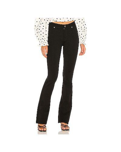 Нейлоновые черные джинсы эластичные на молнии Paige