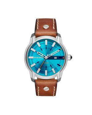 Zegarek srebrny brązowy Diesel