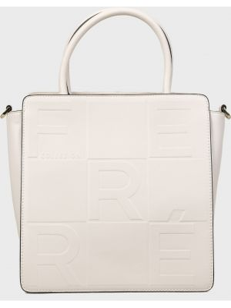 Кожаная сумка - белая Ferre Collezioni